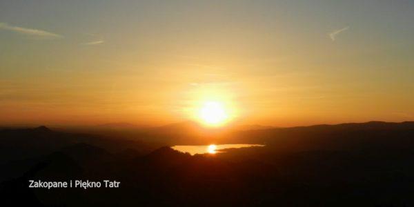 Zachód słońca na szczycie Trzech Koron