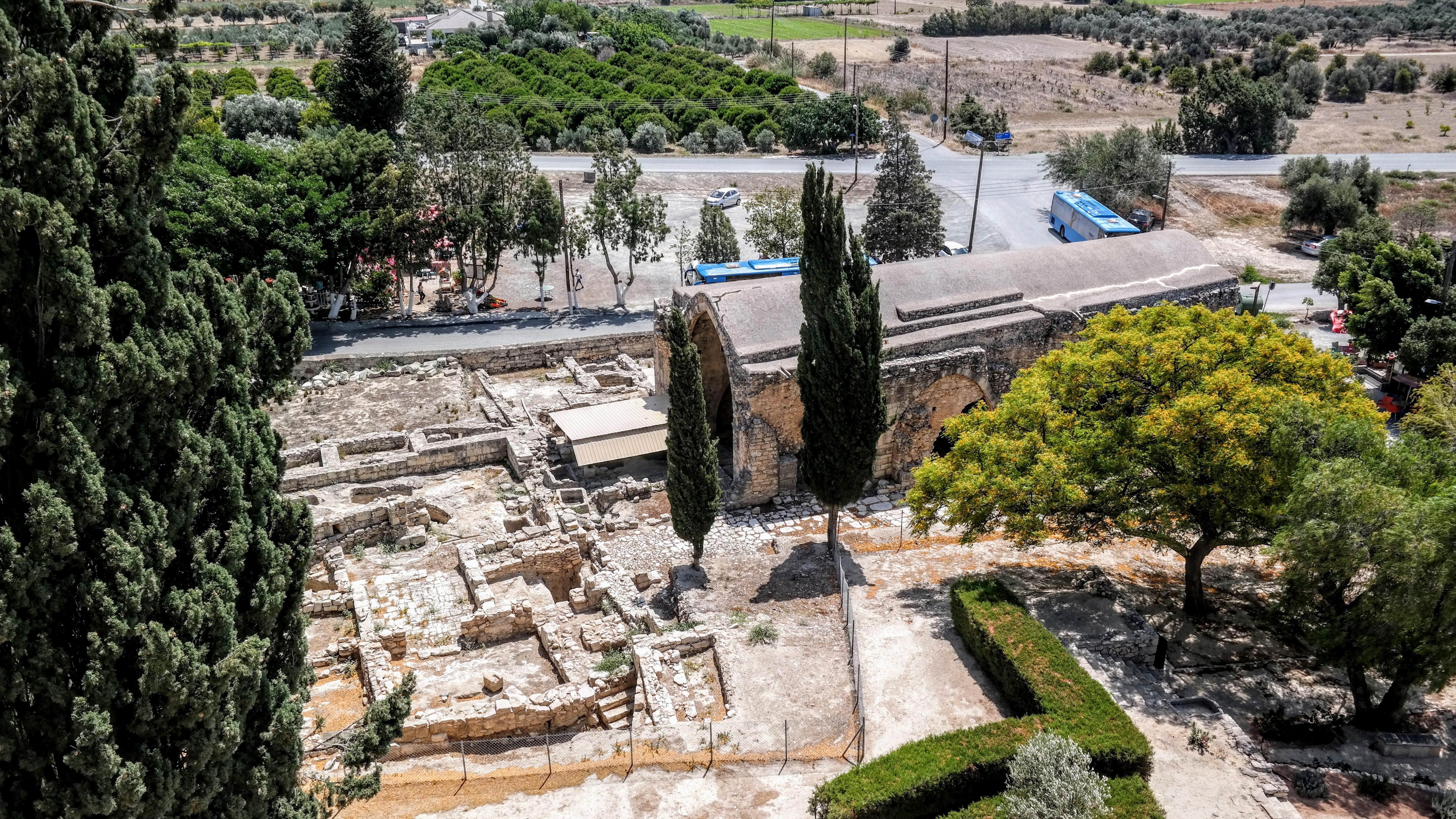 Cypr - Widok z zamku Kolosi