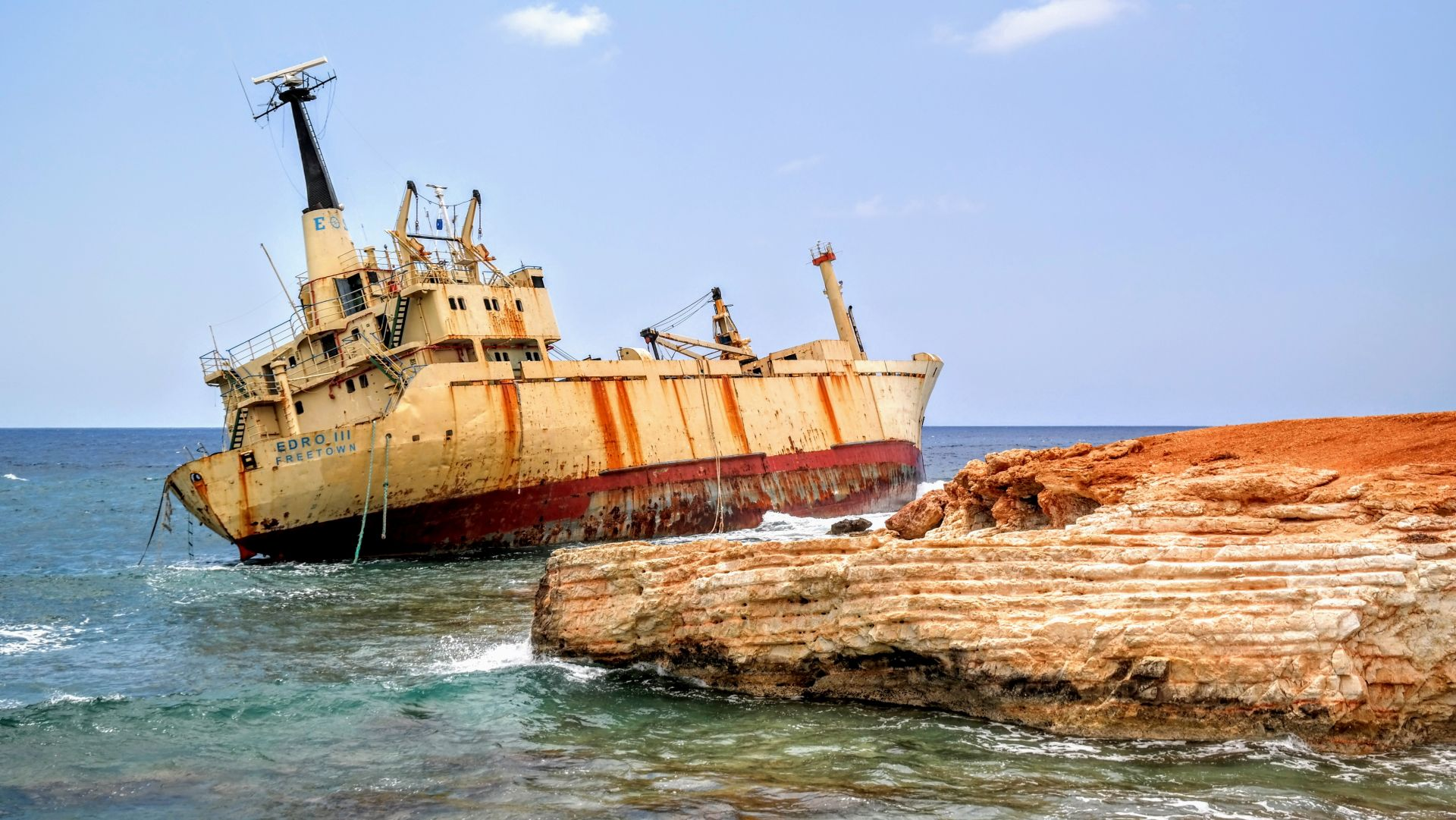 Cypr wrak statku Edro III