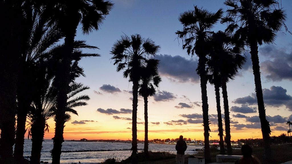 Pafos zachód słońca